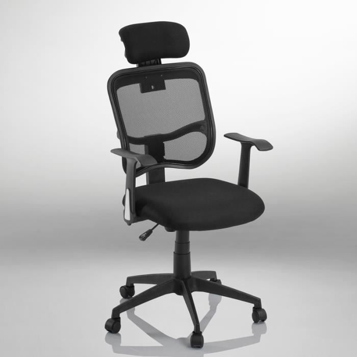 fauteuil ergonomique chaise siege de bureau achat vente chaise de bureau cdiscount. Black Bedroom Furniture Sets. Home Design Ideas