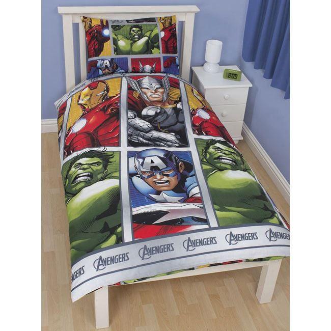 Parure de lit avengers hulk iron man achat vente - Housse de couette iron man ...