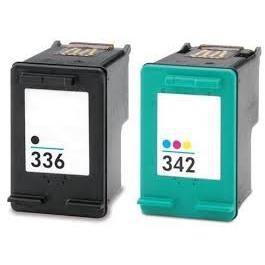 cartouches hp336 et hp342 compatible noir couleurs achat vente cartouche imprimante. Black Bedroom Furniture Sets. Home Design Ideas