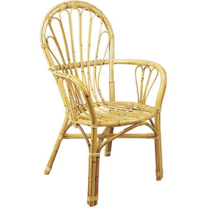 fauteuil naturel en rotin non corc 56x61x96cm achat. Black Bedroom Furniture Sets. Home Design Ideas