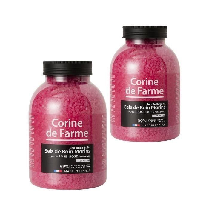 Lot de 2 sels de bain marins sensual rose achat vente for Bain moussant maison