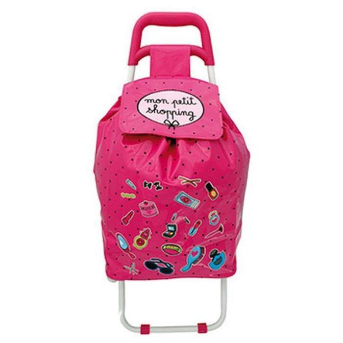 chariot de course pour enfant mon petit shopp fushia achat vente poussette de marche. Black Bedroom Furniture Sets. Home Design Ideas