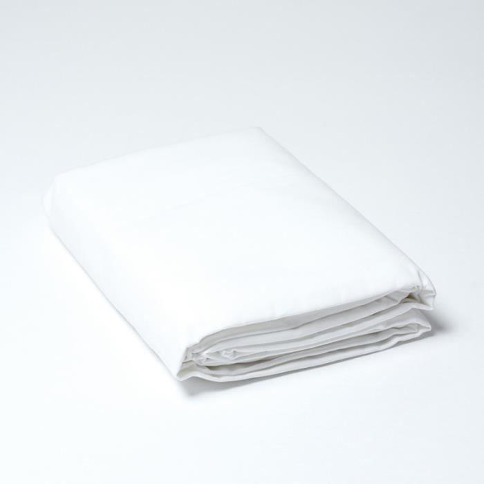 drap housse percale 120 x 190 cm linge blanc rose achat vente drap housse cdiscount. Black Bedroom Furniture Sets. Home Design Ideas