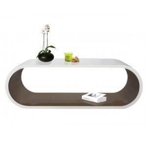 Table basse tictac blanche et taupe longueur achat vente table basse t - Table basse blanche et taupe ...
