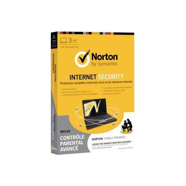ANTIVIRUS Norton IS 2013 - 3 postes  + Contrôle parental