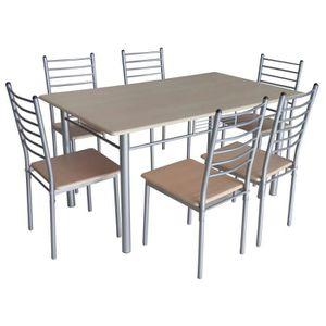 Salle a manger complete avec table extensible achat for Table de salle a manger avec 6 chaises