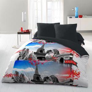 housse de couette 220x240 paris achat vente housse de couette 220x240 paris pas cher. Black Bedroom Furniture Sets. Home Design Ideas