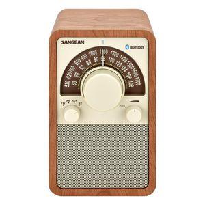 Radio réveil SANGEAN - WR-15 BT - Radio FM/AM, Bluetooth Noyer
