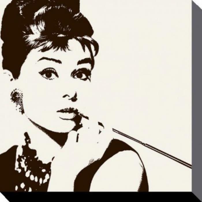 Audrey hepburn poster reproduction sur toile tendue sur for Poster sur toile