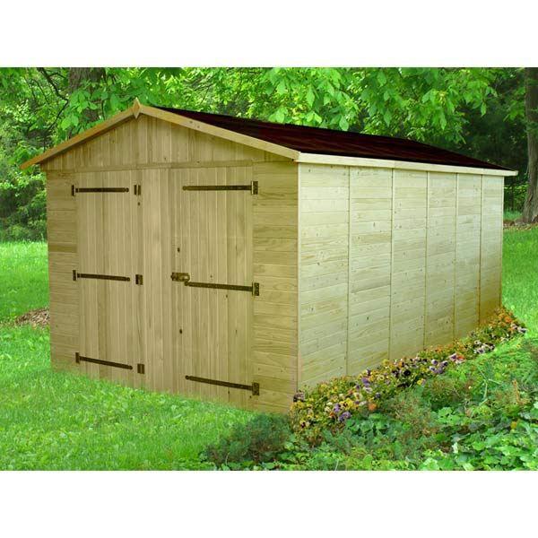 Garage en bois 13 44m panneaux 16mm garage bois achat vente garage gar - Garage bois discount ...