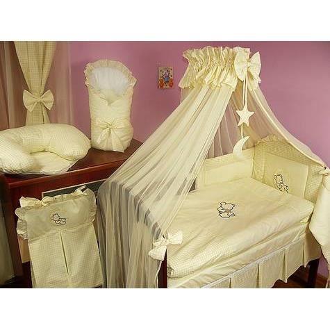 set de lit de luxe 9 pi ces pour filles et gar ons 24 diff rents designs 01 lune cru achat. Black Bedroom Furniture Sets. Home Design Ideas