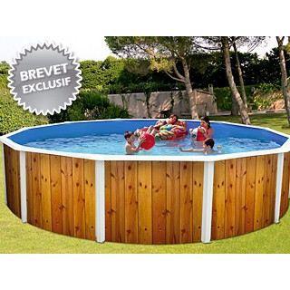 Kit piscine acier indiana d co bois osl achat vente for Piscine acier bois