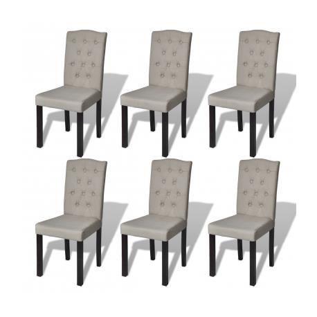 6 chaises de salle manger grises achat vente chaise - Chaise salle a manger confortable ...