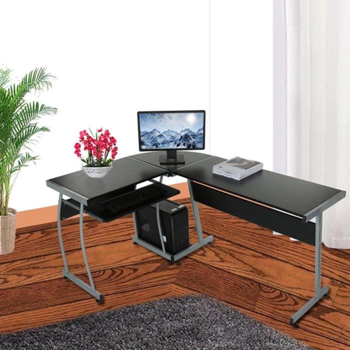 bureau d 39 ordinateur l forme coin ordinateur pc bureau table 3 pi ces coin bureaux domicile. Black Bedroom Furniture Sets. Home Design Ideas