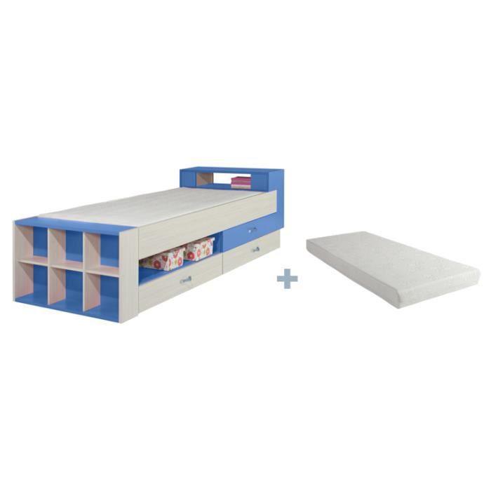 lit enfant avec rangement axel avec matelas achat. Black Bedroom Furniture Sets. Home Design Ideas