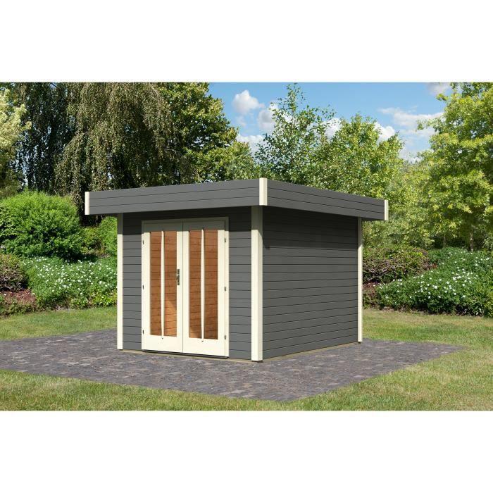 Chalet de jardin gris toiture epdm m 28m achat for Chalet de jardin prix