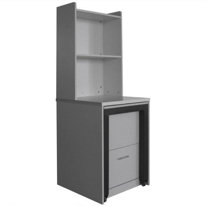 Tag re bureau leone argent achat vente meuble for Meuble bureau etagere atlas