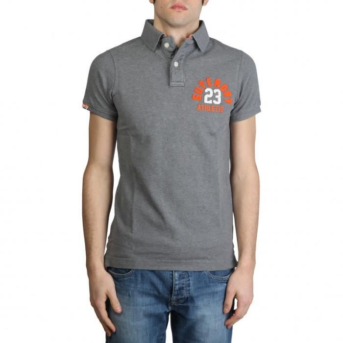 polo manches courtes superdry homme gris achat vente polo cdiscount. Black Bedroom Furniture Sets. Home Design Ideas