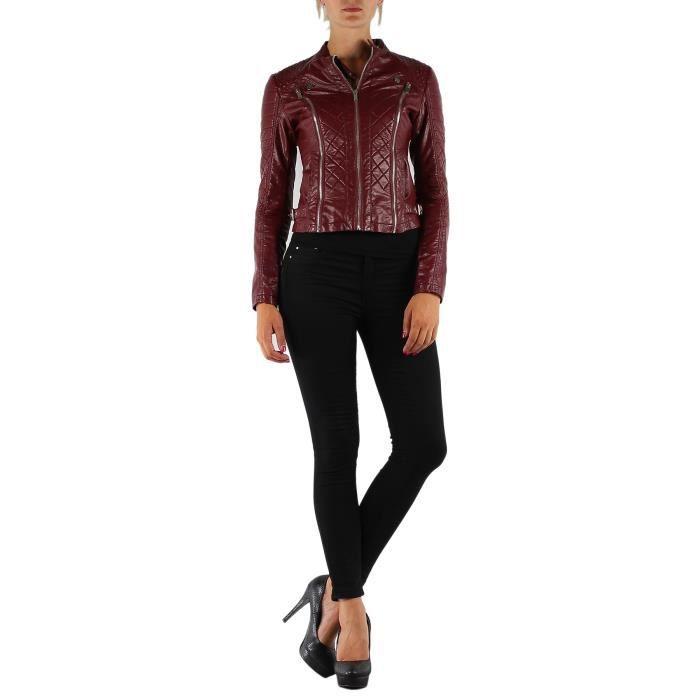 que du bonheur avec cette magnifique veste en simili cuir. Black Bedroom Furniture Sets. Home Design Ideas