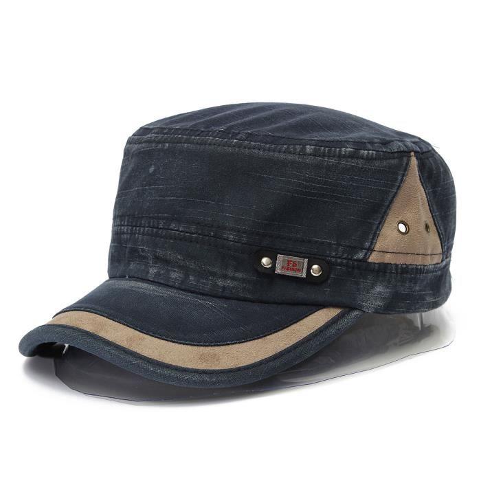 chapeau casquette militaire baseball homme femm bleu achat vente casquette cdiscount. Black Bedroom Furniture Sets. Home Design Ideas