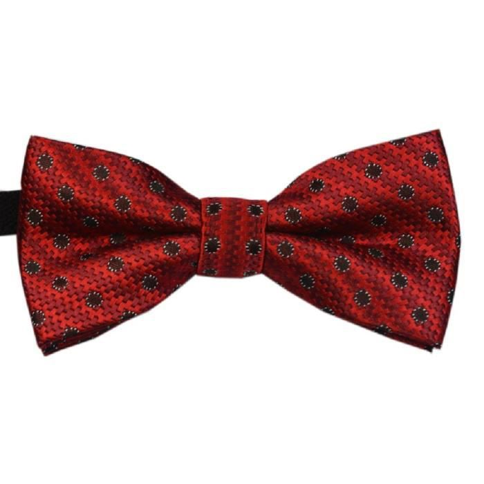 N ud papillon rouge points pour enfant rouge achat - Noeud papillon rouge enfant ...