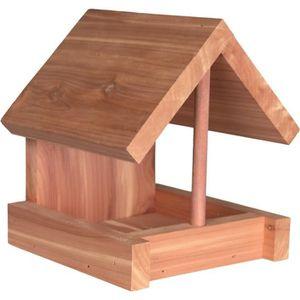 TRIXIE Natura mangeoire en bois de c?dre - 16x15x13 cm - Naturel - Pour oiseaux