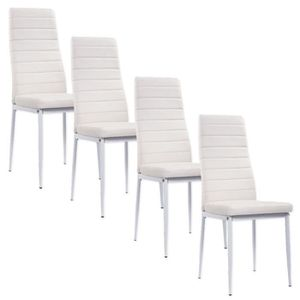 Chaise blanche simili cuir achat vente chaise blanche for Chaise simili cuir blanche