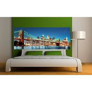 Tete de lit pont achat vente tete de lit pont pas cher for Decoration murale new york