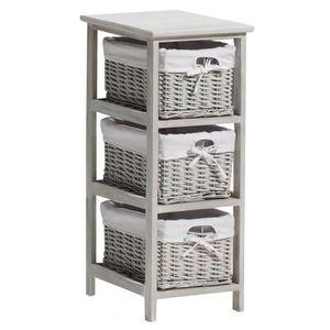 meuble avec tiroir rotin achat vente meuble avec tiroir rotin pas cher cdiscount. Black Bedroom Furniture Sets. Home Design Ideas