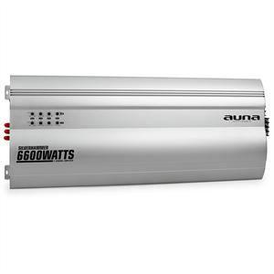 AMPLIFICATEUR AUTO auna Silverhammer Ampli auto 5 canaux 6600W -argen