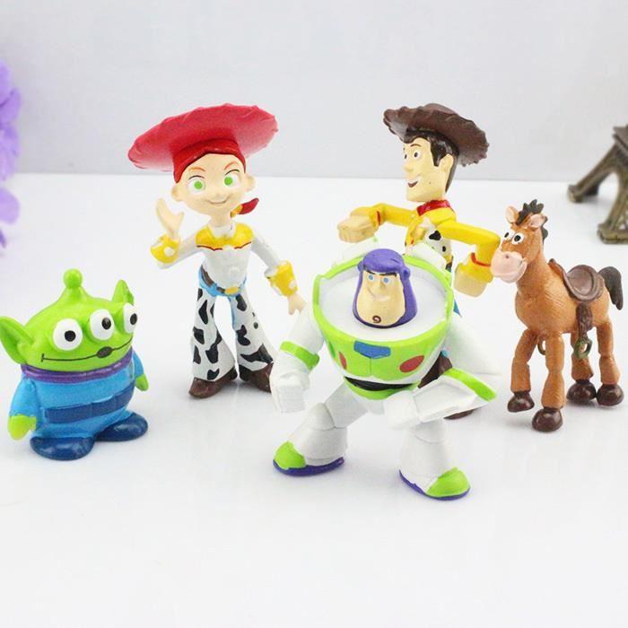 5 pcs lot personnage de dessin anim jouet story mod les sherif woody et buzz lightyear pour - Modele dessin personnage ...
