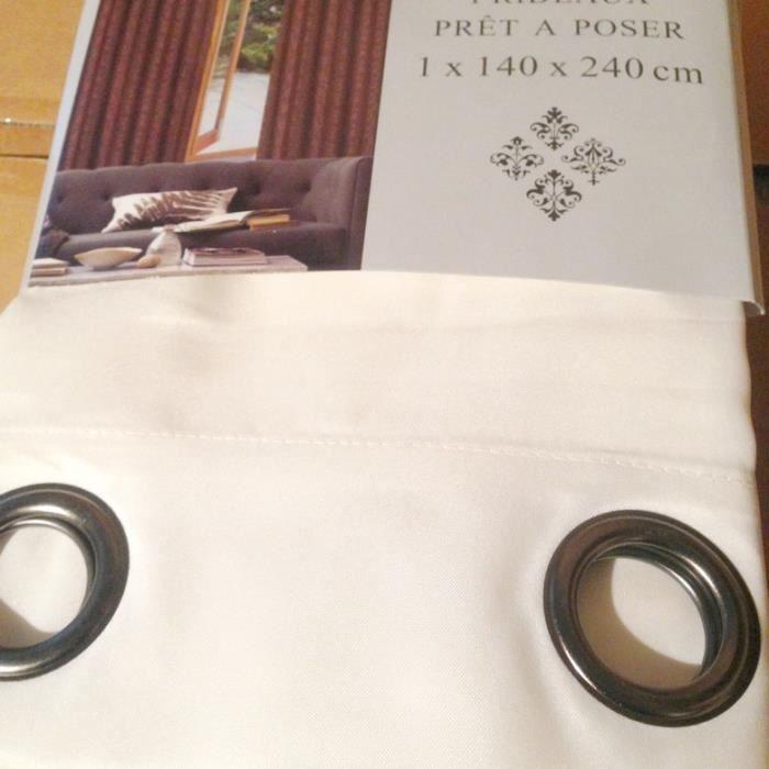 rideaux 140x240cm pr t poser achat vente rideau. Black Bedroom Furniture Sets. Home Design Ideas