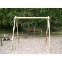 petit portique en bois rondin 2 agres portique achat vente balancoire station jeux petit. Black Bedroom Furniture Sets. Home Design Ideas