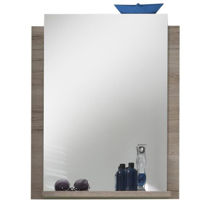 miroir salle de bain coloris chene sonoma achat vente With miroir salle de bain chene