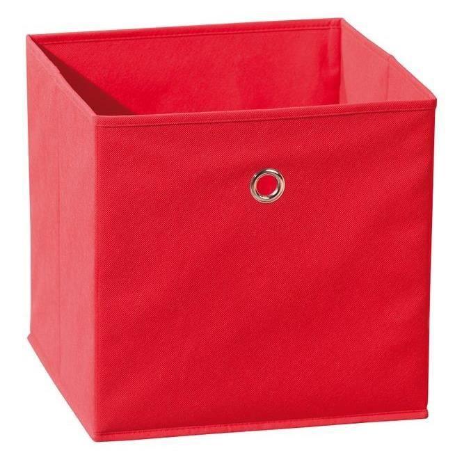 Boite casier de rangement winny rouge achat vente for Maison rouge boite de nuit