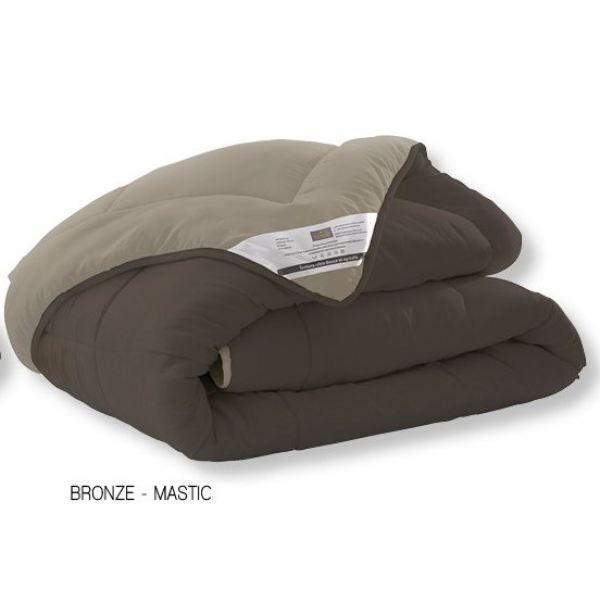 couette reversible bicolore 220x240cm bronze achat. Black Bedroom Furniture Sets. Home Design Ideas