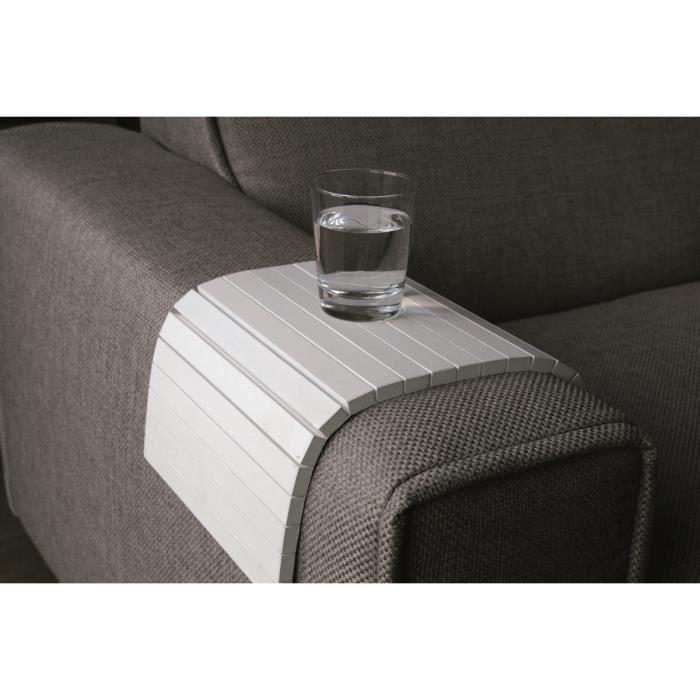 miliboo repose accoudoir pour canap 233 flex blanc achat vente pi 232 ce d 233 tach 233 e assise verre