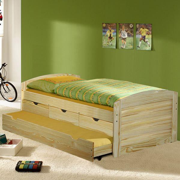 lit avec tiroirs tiroir lit pin vernis naturel achat vente structure de lit lit avec. Black Bedroom Furniture Sets. Home Design Ideas