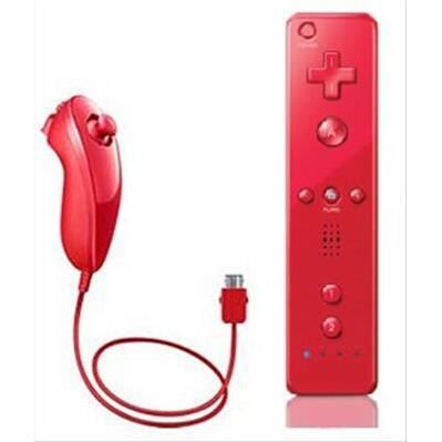 manette wiimote rouge wii nunchunk housse achat. Black Bedroom Furniture Sets. Home Design Ideas