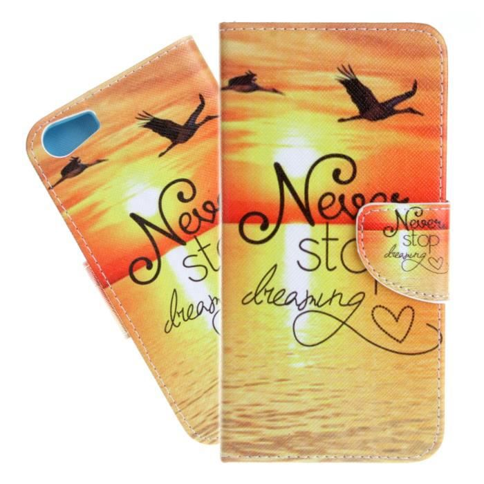 Tutuwen pour wiko lenny 2 coque mer personnalis pu cuir for Coque portefeuille wiko lenny 2