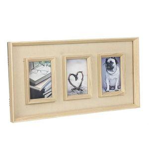 cadre photo triple achat vente cadre photo triple pas cher soldes cdiscount. Black Bedroom Furniture Sets. Home Design Ideas