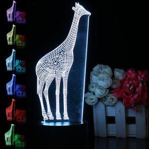LAMPE A POSER Girafe 3D LED 7 Couleur Nuit Lumière Veilleuse Lam
