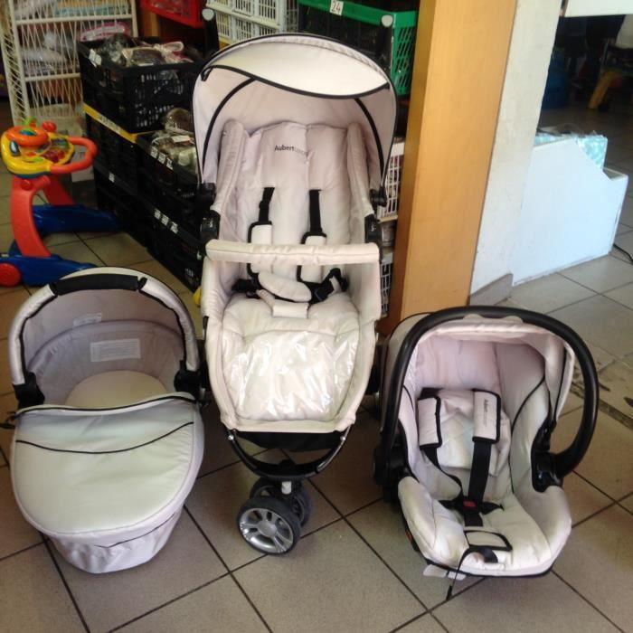 Ensemble trio poussette aubert concept achat vente poussette 2009836296449 cdiscount for Luminaire chambre bebe aubert