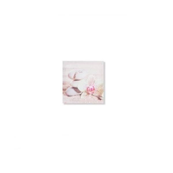 cadre toile zen fleur orchid e et galet spa 28 x 28 cm e achat vente tableau toile. Black Bedroom Furniture Sets. Home Design Ideas