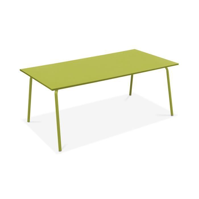 Table de jardin en m tal design vert achat vente table de jardin table de - Table de jardin en metal ...