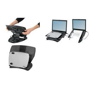 fellowes support pour pc portable workstation p prix. Black Bedroom Furniture Sets. Home Design Ideas