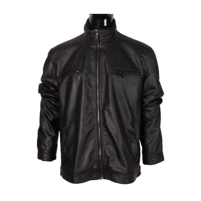 veste homme mentex simili cuir grande taille noir noir achat vente veste cdiscount. Black Bedroom Furniture Sets. Home Design Ideas