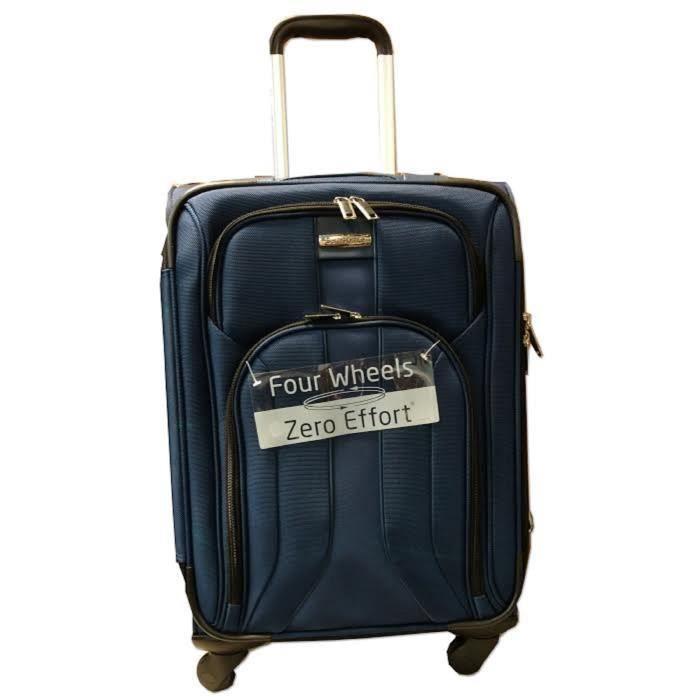 samsonite vanity dlx 21 spinner navy suitcase achat. Black Bedroom Furniture Sets. Home Design Ideas
