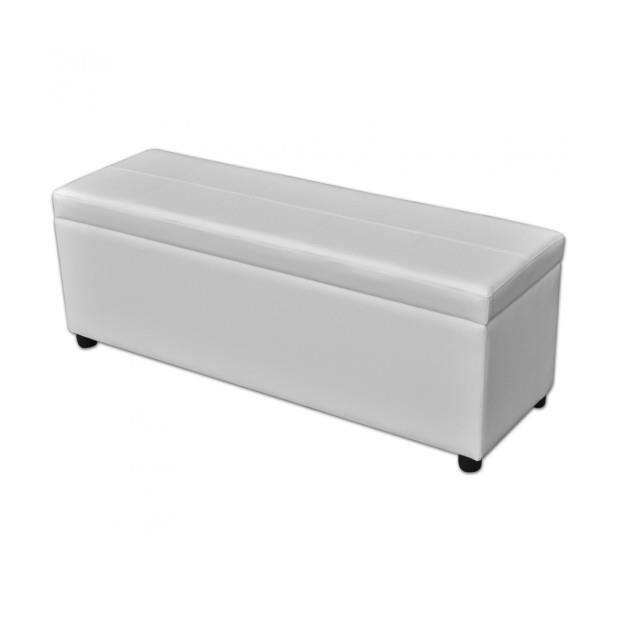 superbe banc de rangement en bois blanc achat vente banc blanc cdiscount. Black Bedroom Furniture Sets. Home Design Ideas