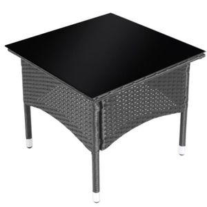 Table de jardin vendue seule resine achat vente table for Petite table de jardin en resine tressee